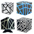 FangCun Ghost Cube Black,Blue Walker 3x3 Ghost Pink yellow Magic cube white with  black sticker
