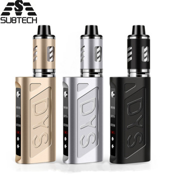 Newest DYS 80w vape kit built -in 2000mah electronic cigarette 80w box mod with 2.0ml atomizer hookah vaper smoking vaporizer electronic cigarette 80w mod box kit built in 2000mah battery box mod 3ml tank adjustable e cigarette big smoke atomizer vape