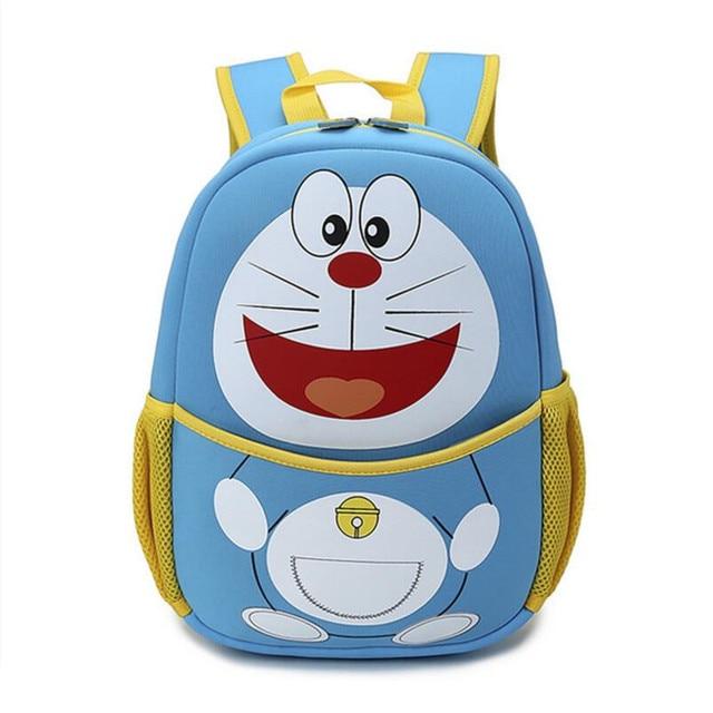 Детские рюкзаки детский сад мешок школы для мальчиков светло-голубой кот рюкзак для девушки персонажа из мультфильма ткань bookbag мальчика школьный