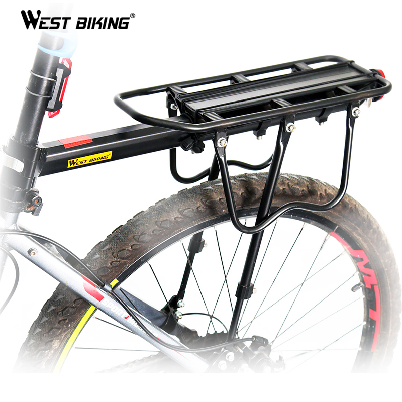 WEST BIKING Bike Racks Bike Luggage Bicycle Accessories Equipment Stand Footstock V Brake Disc Bicycle Kickstand