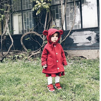 Lovely Cartoon Modeling Clothes Toddler Boys And Girs Hoodies Cute Bear Cap Outerwear Coat Infant Clothing