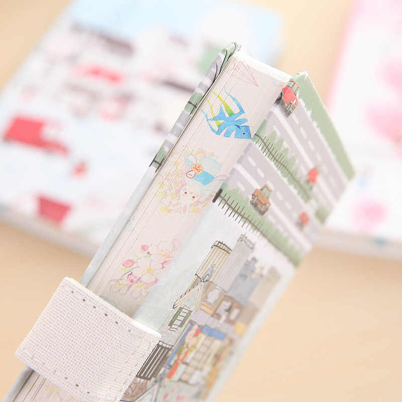 Creative Hand Book Girl S Cute Illustration Magnetic Buckle Diary