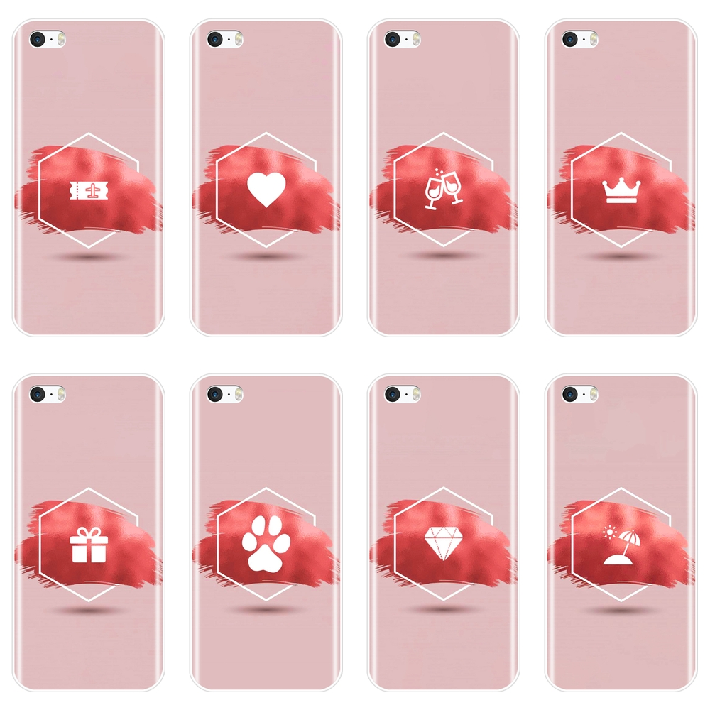 Actief Esthetische Roze Hart Vliegtuig Koning Koningin Kat Telefoon Case Voor Apple Iphone 5 S 5c 5 S Se Silicone Soft Back Cover Voor Iphone 4 S 4 S Blijf Je Altijd Fit