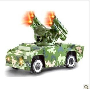 Double eagle E504-001 remote control car red flag - 7 anti-aircraft missile car model children's toys