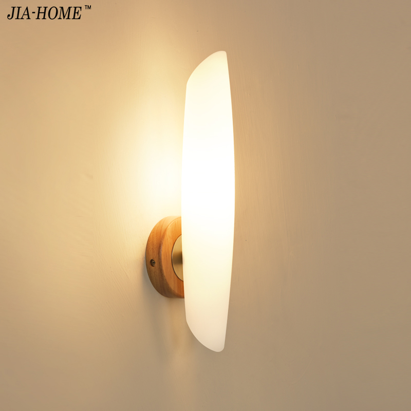 Modern Wood Wall Lights for Bedroom with grass lampshade Wall lamp Hallway Wandlamp Bed light home lighting sconce lighting rushed luminaire double head wood wall lights bedroom lamps hallway wandlamp bed light nordic home lighting sconce lamp iy121786