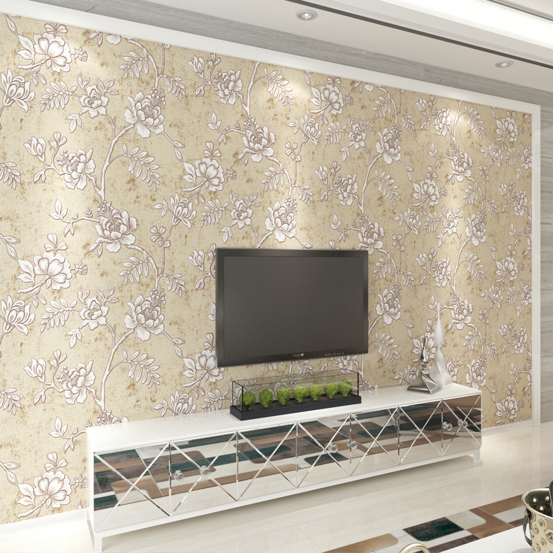 beibehang Modern minimalist 3d relief living room TV background wallpaper bedroom fashion pastoral friendly non-woven wallpaper beibehang fashion modern 3d relief