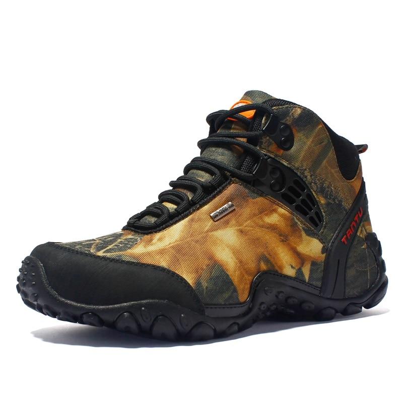 2019 nowy jesień zima Oxford tkaniny mężczyzna buty High Cut sznurowane buty wojskowe moda kamuflaż kostki buty półbuty męskie w Podstawowe buty od Buty na  Grupa 2