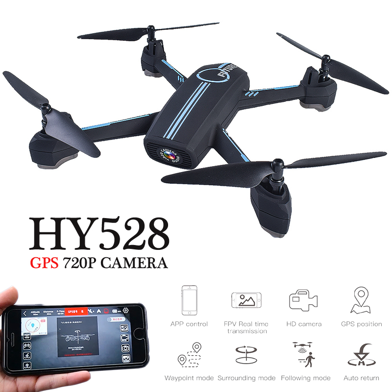 HY528 GPS Drones With Camera HD 720P Quadrocopter Dron Selfie Drone GPS Quadcopters with Camera Altitude Hold RC Helicopters