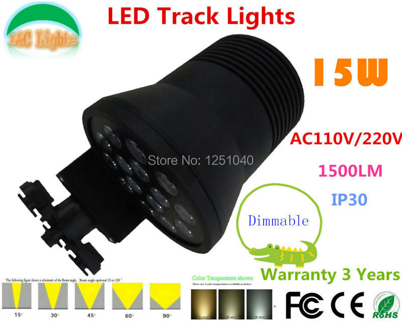 Free Shipping!Dimmable 15W 1500LM LED Track Lights,Showcase LED Spot light,Track Lighing,CE ROHS ,Warranty 3years.6PCs a lot high quality 12v gy6 35 led lights gy6 35 lights led g6 35 bulb g6 led free shipping 2pcs lot