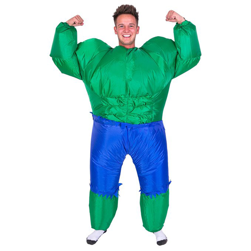 Inflatable Hulk Costume for Women Men Adult The Green Giant Blow Up Suit  Superhero Halloween Party ... 3e9afb984