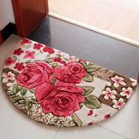 מחצלות החלקה סופגת מחצלת אמבטיה חדר השינה סלון כניסת שפשפת מחצלות מחצלות בית ורדים אדומים