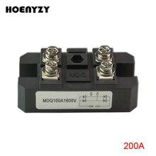 MDQ серии однофазный мост модули MDQ200A 200A Amp 1600V 1-фазный модуль диодного выпрямителя радиатор Медь база