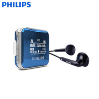 PHILIPS SA2208 Mini Clip Sport MP3 Player Portable Music 8GB FM Radio Pedometer Multi Funcation 3