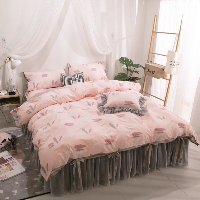 Princess Lace Wedding Bedding Set King Queen full twin Pure cotton Bed skirt Duvet Cover Bedspread Pillowcase Luxury bedclothesPrincess Lace Wedding Bedding Set King Queen full twin Pure cotton Bed skirt Duvet Cover Bedspread Pillowcase Luxury bedclothes