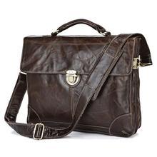 คุณภาพวินเทจจริงกระเป๋าหนังแท้ผู้ชายMessengerกระเป๋าหนังวัวพอร์ตการลงทุนนักธุรกิจกระเป๋าเดินทาง# VP-J7091