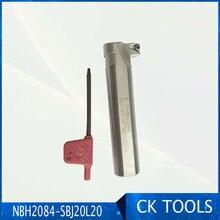 Хорошая цена SBJ20L20 1 шт борштанги NBH2084 цилиндрический Инструмент 90 мм хвостовик инструмента для NBH2084 Скучно система