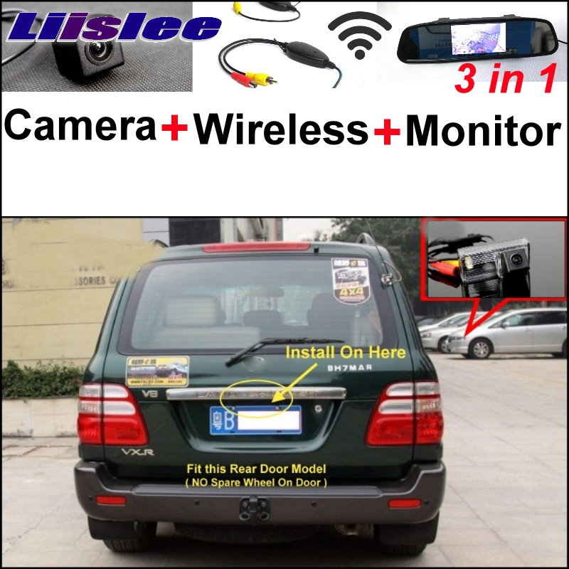 Liislee Special Rear View Camera+Wireless Receiver+Mirror Monitor Parking System For TOYOTA Land Cruiser LC 100 LC100 1998~2007 g star raw g star raw d01130 7132 6221