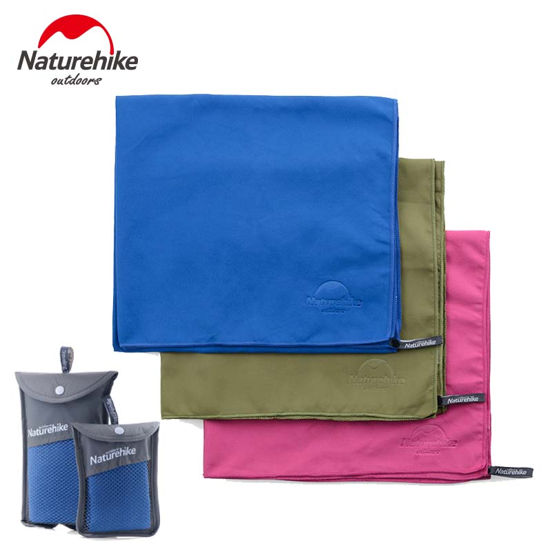 NH NatureHike Microfiber Antibacterial Ultralight Compact Quick Drying Towel Camping hiking Hand Face Towel Outdoor travel kits