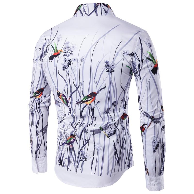 Plus size men 39 s casual colour shirt ink splash paint color slim shirts leisure 6 personality color long sleeve Shirt in Casual Shirts from Men 39 s Clothing