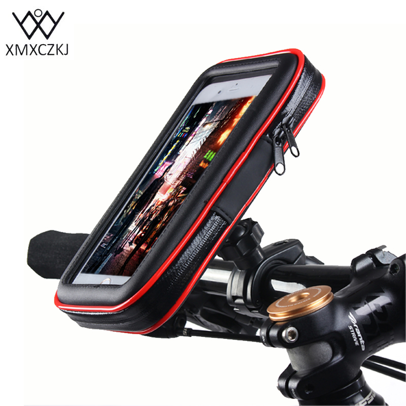 XMXCZKJ Bicycle Handle Phone Mount Cradle Holder Bike Universal For iPhone8 7 6S Samsung Note 3 4 Huawei Xiaomi Bike Smartphone