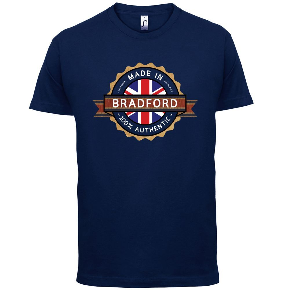 Made In BRADFORD Mens T-Shirt - Town / City 13 ColoursMenS T-Shirts Summer Style Fashion Swag Men T Shirts Classic