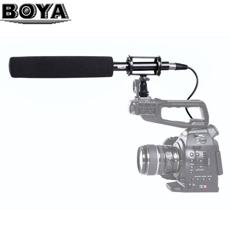 BOYA BY-PVM1000L Professional Unidirectional Broadcast Condenser Shotgun Interview Microphone for Canon Nikon Sony DSLR Camera
