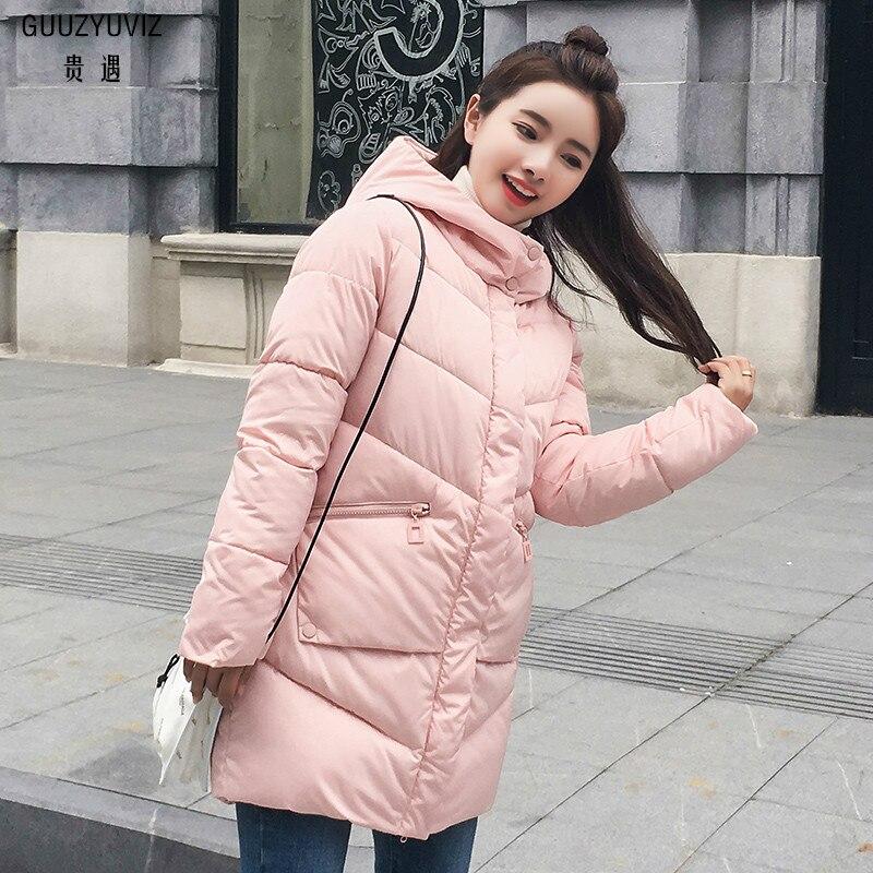 Flavor Guuzyuviz Parkas Mujer 2018 Winter Hooded Warm Thick Zipper Pocket Wapped Jacket Coat Women Outwear Harajuk Slim Woman Clothes Fragrant In