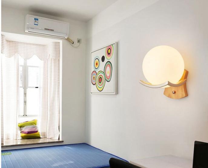 Badkamer Design Wandlamp : Houten bal ontwerp moderne led wandlamp voor thuis wandkandelaar
