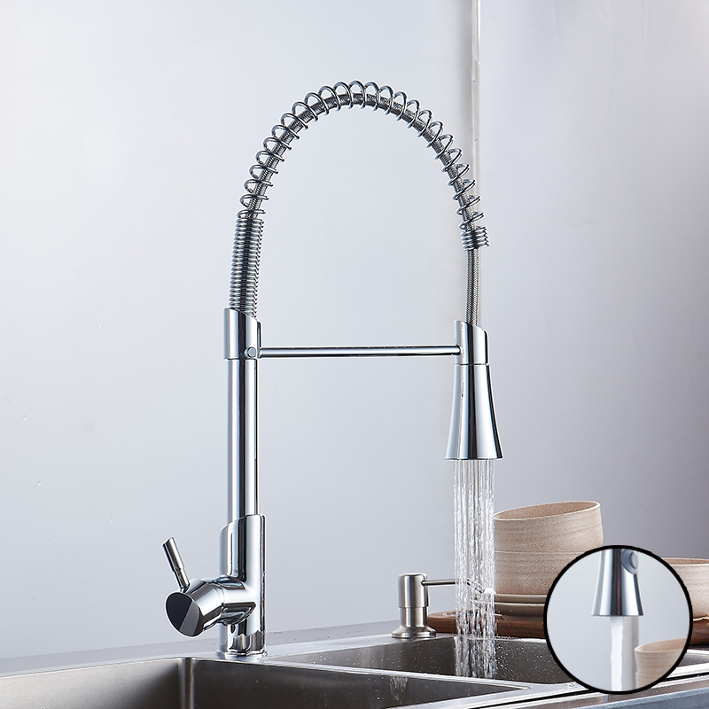 New Kitchen Faucet Pull Out Spray Kitchen Tap Sink Faucet Mixer Tap Hot&Cold Water Single Hole Single Handle Torneira Cozinha цепи алмаз холдинг серебряная цепь в позолоте alm365206020060 60