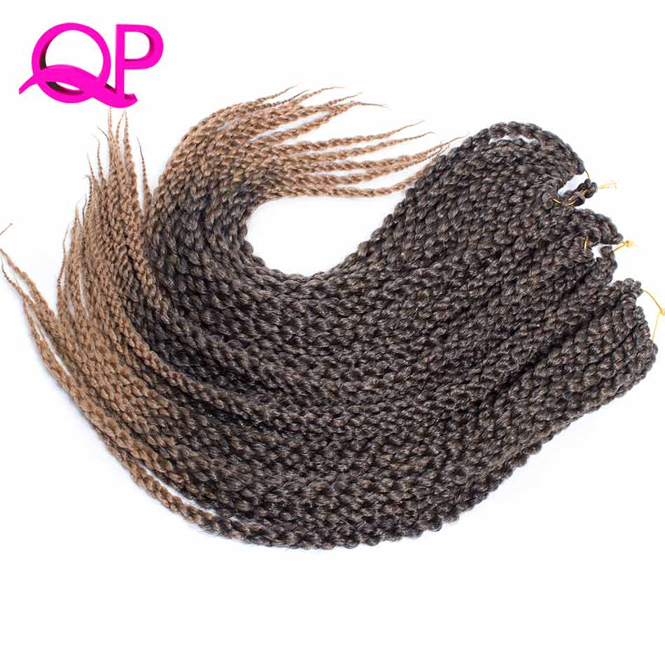 QP hair 22inch Cubic Twist Crochet Hair 6Packs/Lot 12Roots/Pack Ombre Crochet Twist synthetic Hair Extensions Braiding Hair
