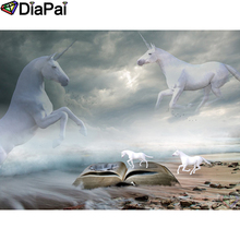 DIAPAI Diamond Painting Animal unicorn Cross Stitch Custom Photo Embroidery Square Round Drill Home Decor A25364