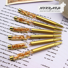 NORRATH Stationery Metal Gold Foil Ballpoint Pen Iuxury Golden School Supplies Office Accessories Oily Refill 1.0