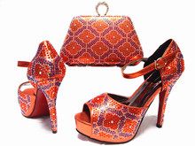 Latest Design African Shoes and Bags Matching Set High Heels Shoes and Bag Set font b