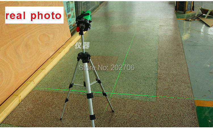2 lines green light laser level 360 degree rotary laser for Location niveau laser exterieur