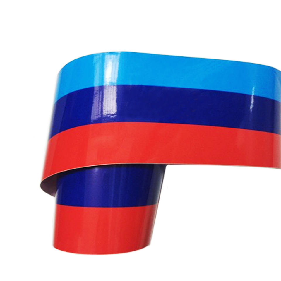 Fits BMW M-Colored Power Flag Stripe Sticker Decal Car Hood Roof Fender Decal 2M