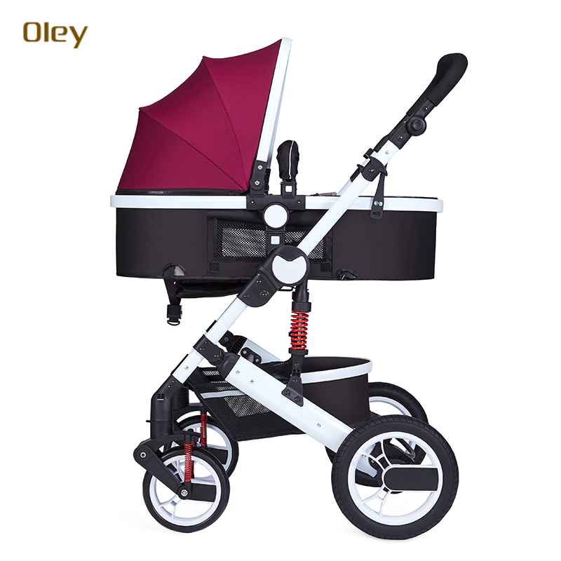 baby stroller high landscape can sit and lie the shock BB car baby two-way portable folding trolley for children