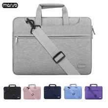 MOSISO Casual Poliéster Laptop Maleta À Prova D Água 13 14 15 polegada Notebook Bolsa de Ombro Laptop Carry Case Bag Para As Mulheres e homens