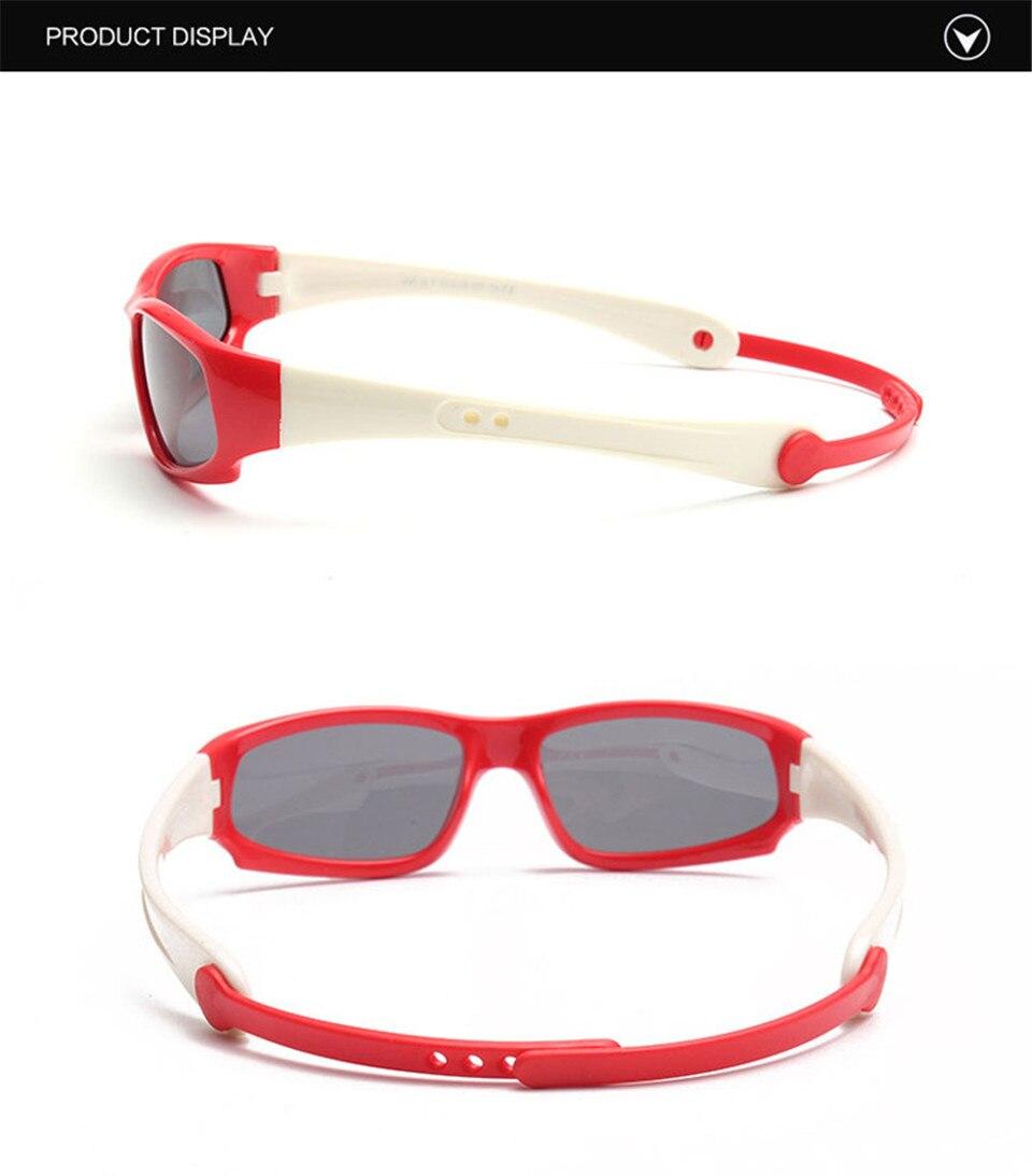 No easily broken Kids TR90 Polarized Sunglasses Children Safety Brand Glasses Flexible Rubber Oculos Infantil (13)