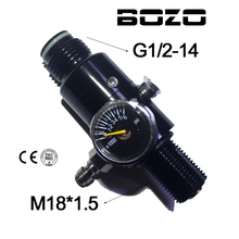 Paintball co2 cilinder fotograferen 4500PSI Luchttank Regulator Uitgangsdruk 800psi / 1800psi M18 * 1.5
