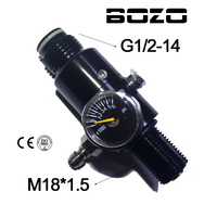 Paintball Co2 Cylinder Shooting 4500PSI Air Tank Regulator Output Pressure 800psi 1800psi M18 1 5