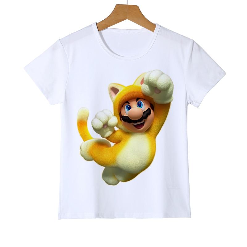 Mario Wario Boy Girl t-shirt dla dzieci 3D Super mario bros t-shirty - Ubrania dziecięce - Zdjęcie 4