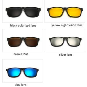 Image 4 - New Include Frame Polarized Clip On Sunglasses Men TR90 Custom prescription lenses Magnetic clips night glasses drive Magnet