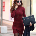 Save 2 on 2016 women spring vestidos roupas feminina tunic clothed female mini robe solid tropical tweed ropa mujer sweater dress