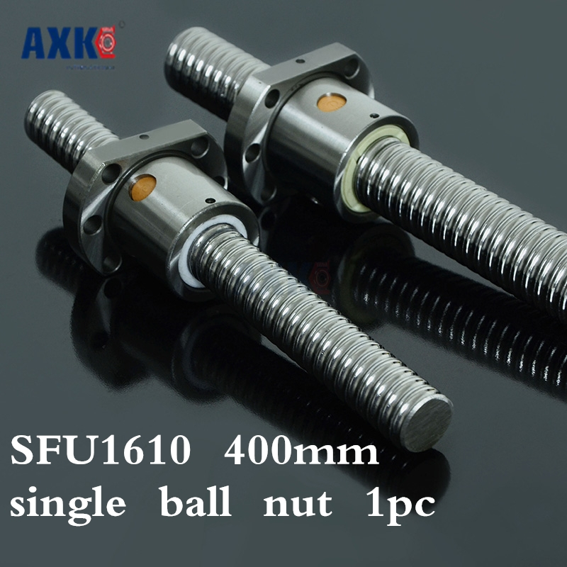 Axk New 16mm Rm1610 Ball Screw Rolled Ballscrew 1pcs Sfu1610 L 400mm With 1pcs 1610 Flange Single Ballnut For Cnc Part кабель n2xs fl 2y 1x50 rm 16