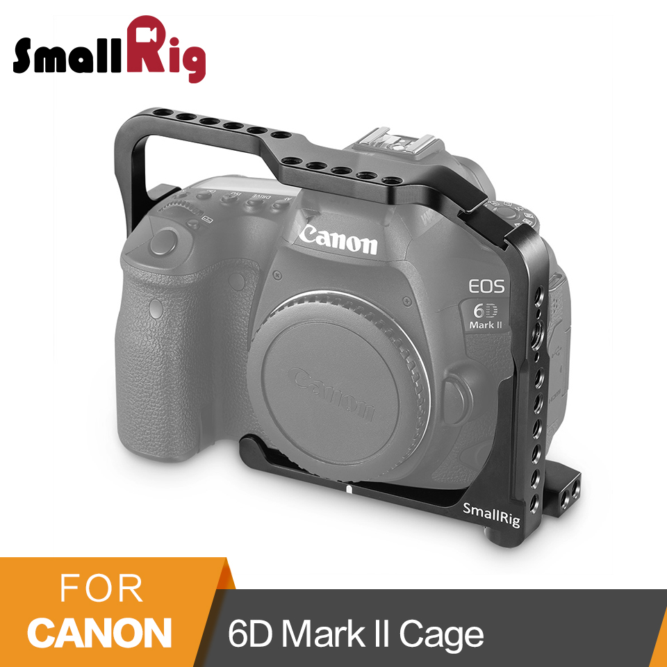 SmallRig Camera Cage For Canon 6D Mark II Cage With  NATO Rails Built-In Arca Swiss Quick Release Plate 2142