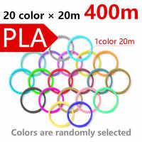 400 metro 3D penna 3d Materiale penna stampante 3d penna Filo di ABS/PLA filamento 1.75 millimetri Luminoso di plastica di colore per 3D penne