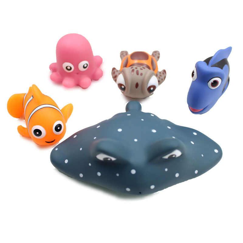 4 шт./компл. Дисней Микки Минни Мягкий Клей Набор игрушек для ванны ложка детские игрушки для купания воды пляжа