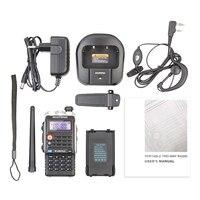 "vhf uhf Baofeng BF-UVB2 פלוס מכשיר הקשר Dual Band VHF / UHF 136-174MHz / 400-520MHz 128CH שני הדרך רדיו BF UVB2 מקמ""ש (5)"