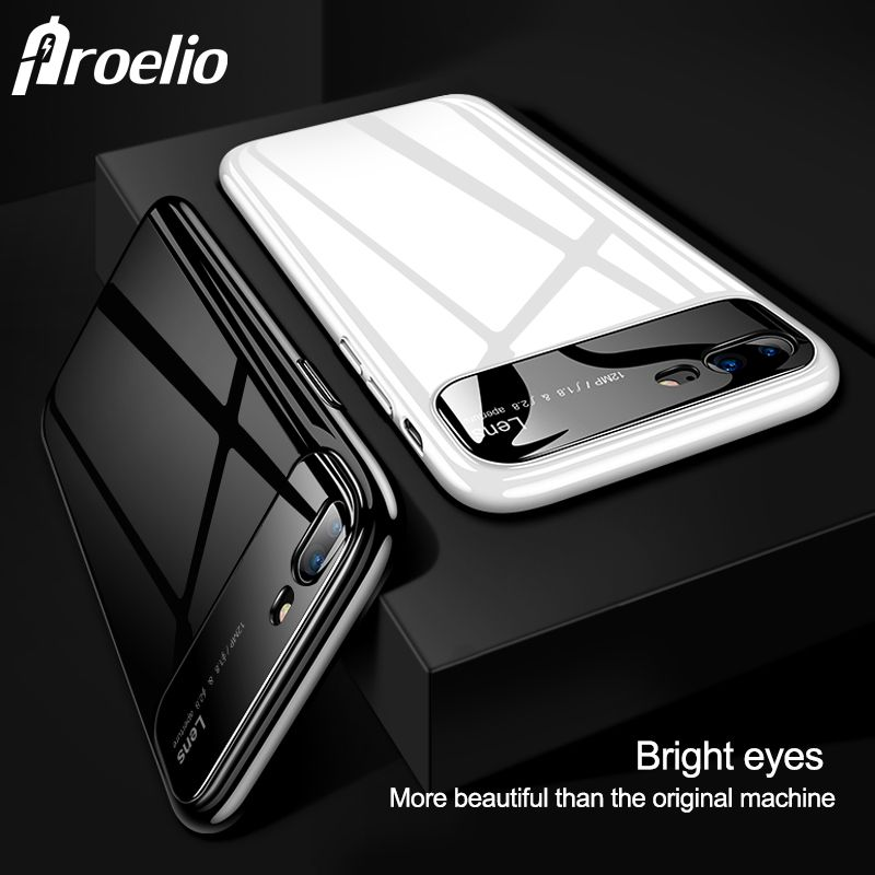 For iphone 7 iphone 7 Plus iPhone 8 8 Plus Lens Protection Phone case phone back cover Mobile Phone Bags For iphone X case X 10