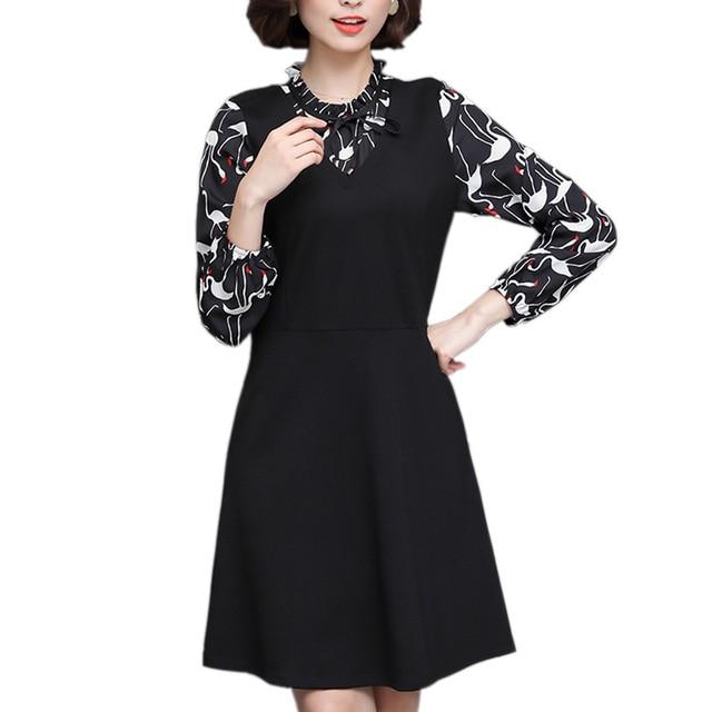 Aliexpress Buy L 5xl Fashion Fake 2 Piece Office Dress Plus